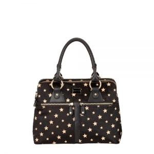 Modalu Pippa Mini Black Stars Mix Calf Leather Handbag