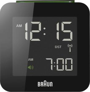Braun Digital Radio Controlled Travel Alarm Clock BNC009