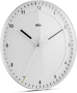 Braun Classic Large Analogue Wall Clock White 30Cm