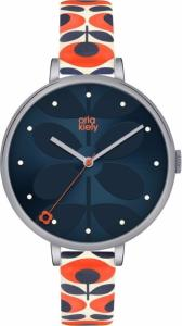 Orla Kiely Ladies Ivy Watch with Multi Colour  leather strap